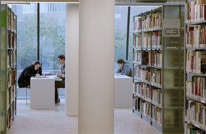 Untergeschoß der Bibliothek