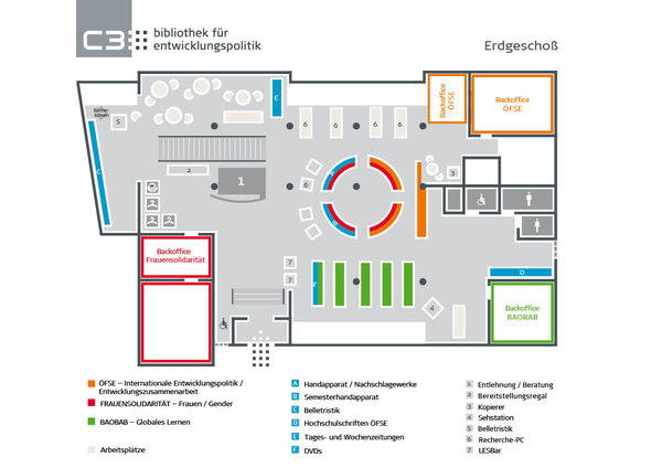 Orientierungsplan Erdgeschoss