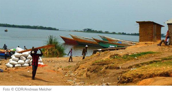 Fischerboote in Uganda