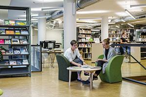 Beratung durch Bibliotheksmitarbeiterin